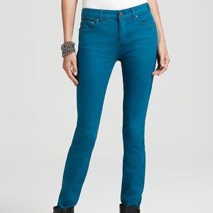 Free People Teal Skinny Jeans 26